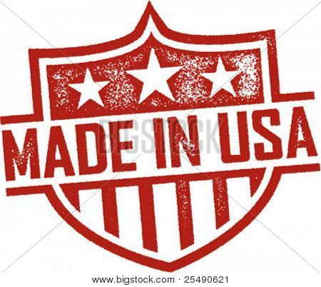 Made in Usa Jahrgang Schild Impressum
