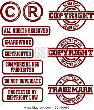 Copyright & Trademark Grunge Stamps