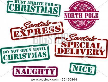 Santa Christmas Stamps