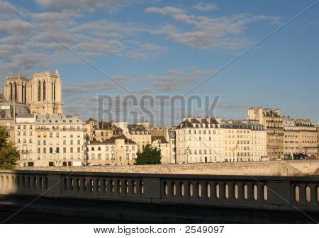 View Of Ile St. Louis In Paris