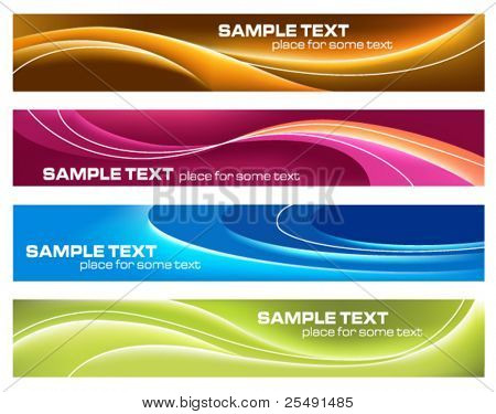 Four colorful banners for print or web usage