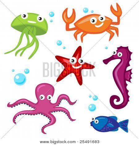 Niedliche Meeresbewohner
