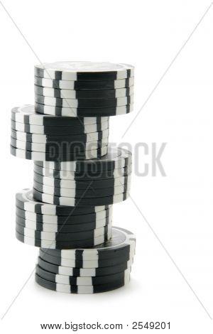 Black Casino Chips