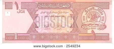 1 Afghani Bill Of Afghanistan