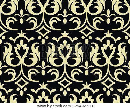 Seamless gothic style damask background