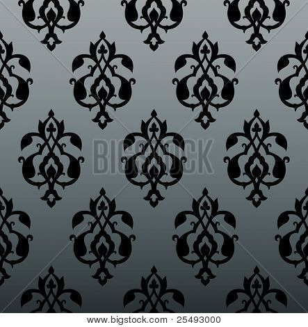 Seamless vintage damask background