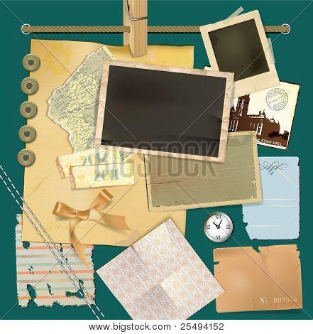 Vector scrapbook details set