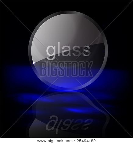 Vector glass sign