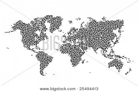 Earth maze map:raster version