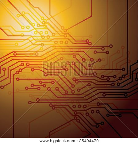Circuit board technology background:raster version