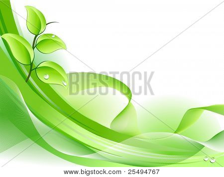 Spring fresh plant background