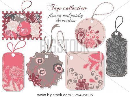 Precio clave colección en rosa y gris