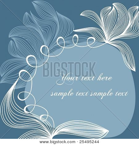 Floral background with space for text