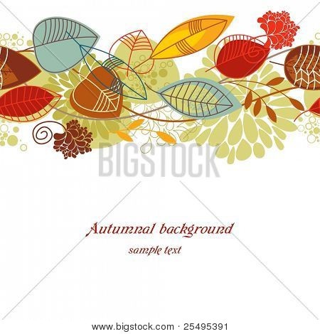 Autumnal seamless background