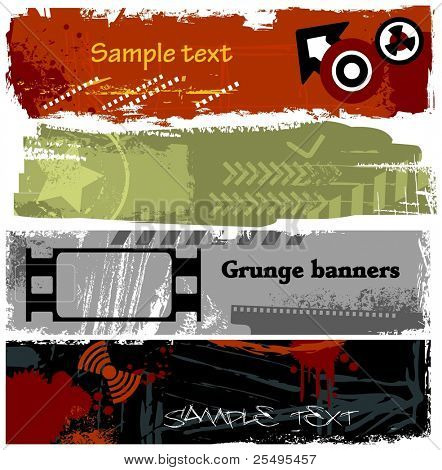Grunge banners collection