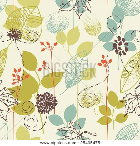 Seamless Pattern Blätter Thema