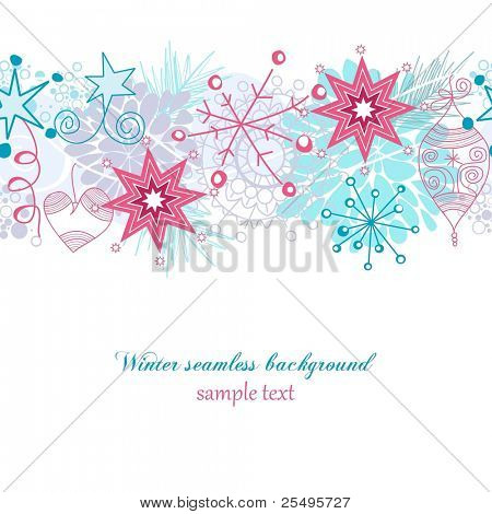 Winter seamless background