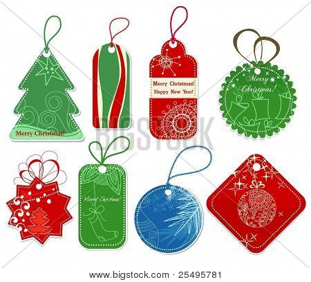 Christmas price tags collection