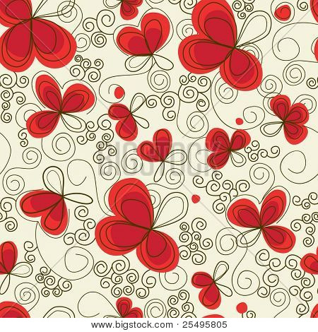 Romantischen floral seamless background
