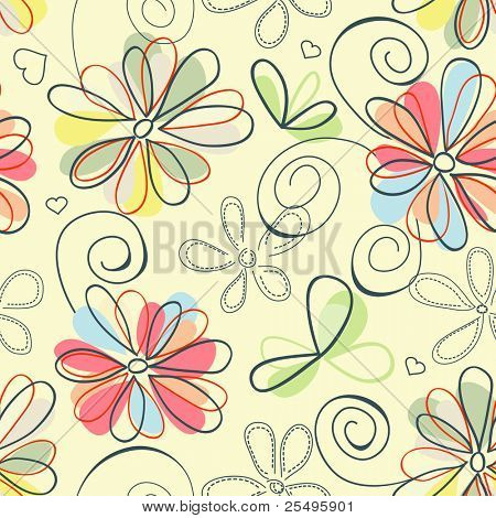 Retro floral Background (nahtlos)