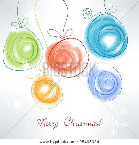 Cute colorful Christmas balls