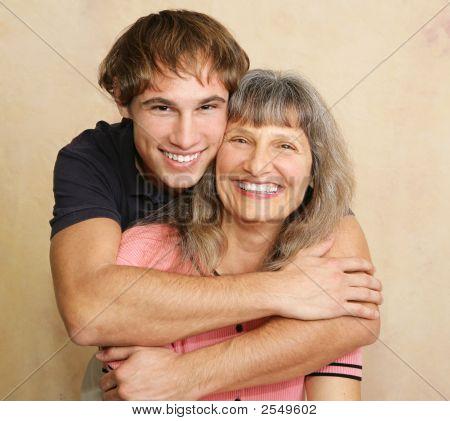 Retrato del hijo de madre & para adultos