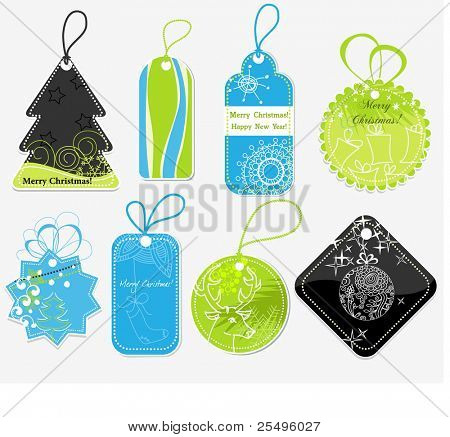 Stylish Christmas price tags