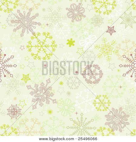 Retro snowflakes seamless pattern