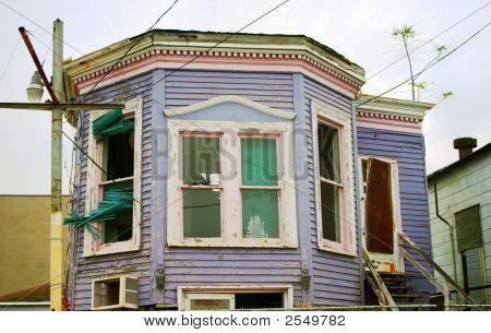Purple House Lost In Hurricane