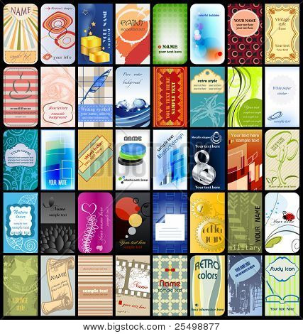 40 vertical business cards