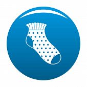 Girl Sock Icon. Simple Illustration Of Girl Sock Icon For Any Design Blue poster