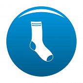 Sock Icon. Simple Illustration Of Sock Icon For Any Design Blue poster