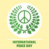 International Peace Day Green Background. Flat Illustration Of International Peace Day Green Vector  poster