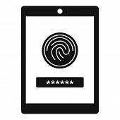 Fingerprint Password Icon. Simple Illustration Of Fingerprint Password Icon For Web Design Isolated  poster