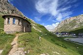 Chapel In Pordoi Pass