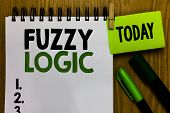 Text Sign Showing Fuzzy Logic. Conceptual Photo Checks For Extent Of Dirt And Grease Amount Of Soap  poster
