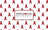 World Aids Day. Aids Awareness. Aids Red Ribbon. World Aids Day 1 December. Logo Vector. Icon Vector poster