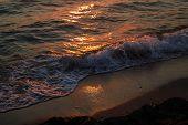 Sunset. Beautiful Sunset Black Sea. Gold Sea Sunset. Picture Sea Sunset. poster