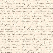 image of scribes  - Seamless abstract handwritten text document old pattern - JPG