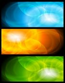 Set of abstract colorful banners. Vector design eps 10