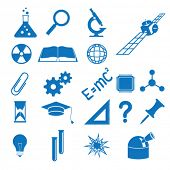 pic of staples  - Vector illustration of the icons to subjects of the science - JPG
