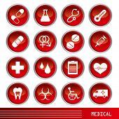 Постер, плакат: Медицинские иконы set