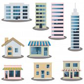 picture of school building  - Building icons set - JPG