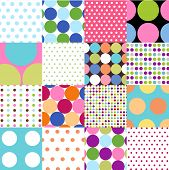 image of dot pattern  - seamless patterns - JPG
