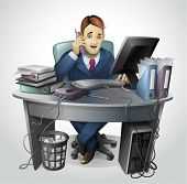 image of clip-art staff  - Businessman  - JPG