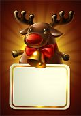foto of rudolph  - Christmas card with Rudolph - JPG