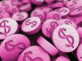 picture of xtc  - 3d rendered illustration of many pink pills - JPG