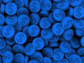 image of xtc  - 3d rendered illustration of many blue pills - JPG