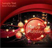 stock photo of happy holidays  - Happy Holidays Background - JPG