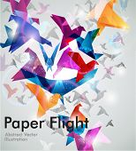 stock photo of prism  - Paper Flight - JPG